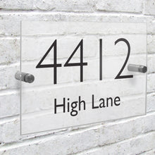 Load image into Gallery viewer, Personalised Modern Acrylic House Sign