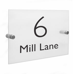 Personalised Modern Acrylic House Sign