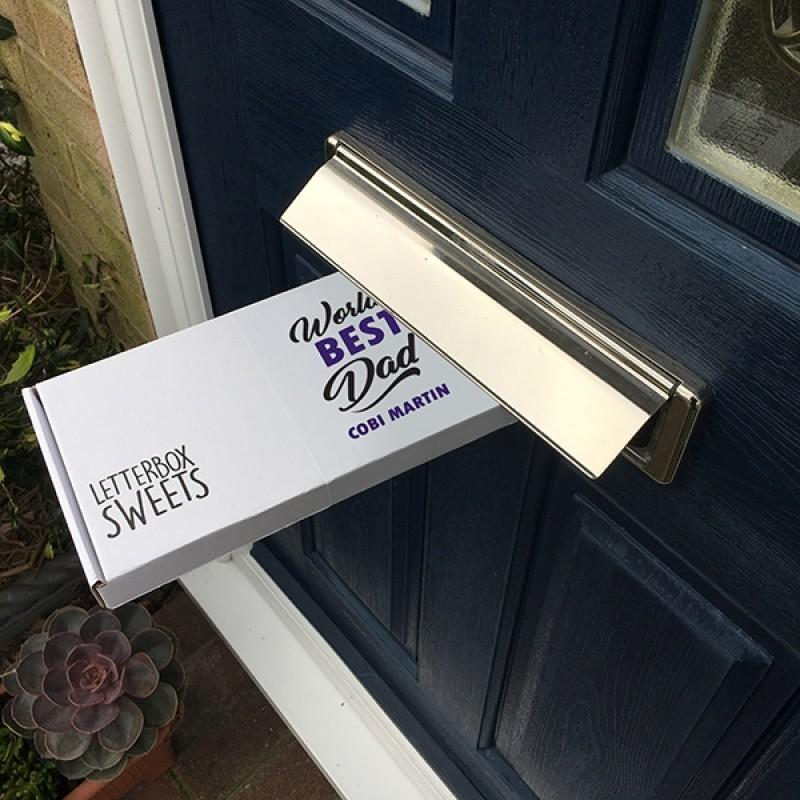 Personalised World's Best Dad Letterbox Sweets