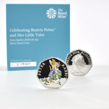 Load image into Gallery viewer, Peter Rabbit Royal Mint Silver Proof Coin & Book Set