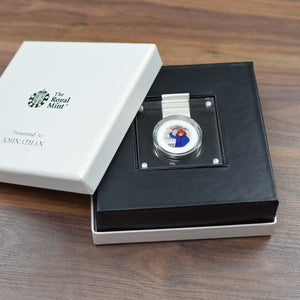 Silver Proof Paddington 50p in a deluxe personalised gift box