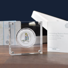 Load image into Gallery viewer, Silver Proof Peter Rabbit 50p in a deluxe personalised gift box