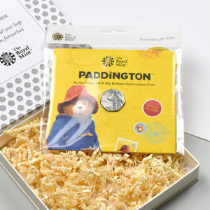 Uncirculated Paddington 50p in a personalised gift box