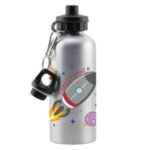 Personalised Space Rocket Drinks Bottle