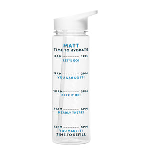 Personalised Time To Hydrate Water Bottle