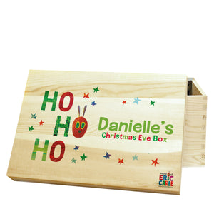 Personalised Very Hungry Caterpillar Ho Ho Ho Christmas Eve Box