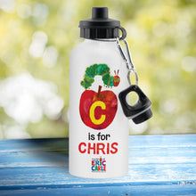 Load image into Gallery viewer, Personalised Very Hungry Caterpillar Initial Caterpillar Drinks Bottle