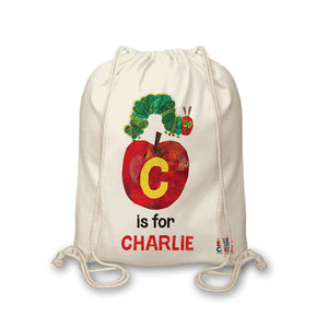 Personalised Very Hungry Caterpillar Initial Caterpillar Bag