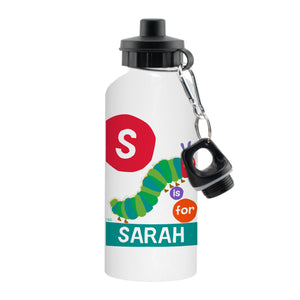 Personalised Very Hungry Caterpillar Dot Initial Drinks Bottle