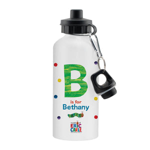 Personalised Very Hungry Caterpillar Spotty Initial Drinks Bottle