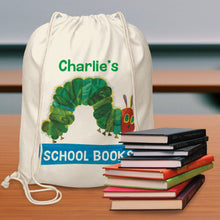 Load image into Gallery viewer, Personalised Very Hungry Caterpillar Drawstring Bag