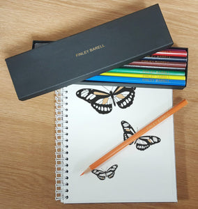 12 Personalised Colouring Pencils In Black Box
