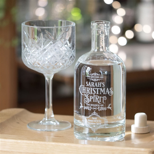Premium Engraved Botanical Christmas Spirit Gin