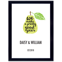 "Load image into Gallery viewer, Personalised Framed ""Pretty Good Pear"" Print"