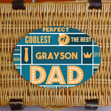Load image into Gallery viewer, Personalised Best Dad Retro Sweet Hamper