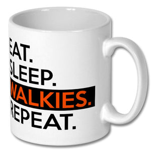 Eat Sleep Walkies Repeat Mug