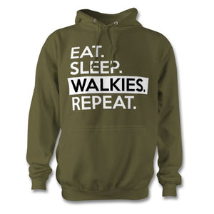Eat Sleep Walkies Repeat Hoodie - Unisex