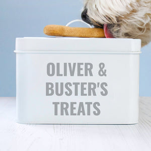 Personalised Enamel Pet Treat Tin