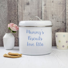 Load image into Gallery viewer, Personalised Enamel Biscuit Barrel