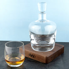 Load image into Gallery viewer, Monogrammed LSA Whisky Decanter & Walnut Base