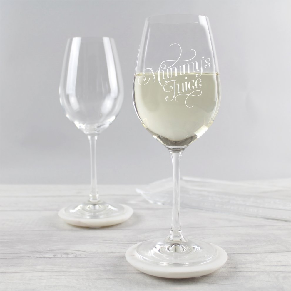 Mummy's Juice Wine Glass