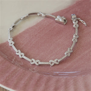 Sterling Silver My Kisses Bracelet
