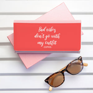 Personalised No Bad Vibes Purse Wallet