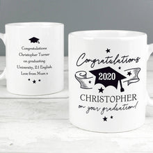 Load image into Gallery viewer, Personalised Graduation Mug