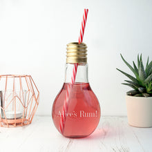 Load image into Gallery viewer, Personalised Lightbulb Cocktail Glass