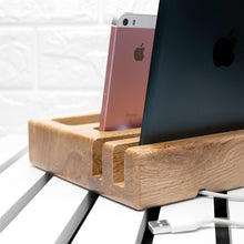 Load image into Gallery viewer, Personalised Wooden Multi Tablet Desk Holder