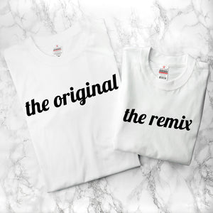 Personalised Daddy & Me Remix T-Shirt Set