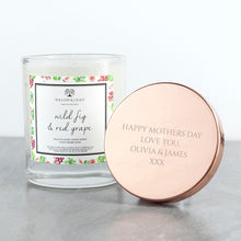 Load image into Gallery viewer, Personalised Wild Fig & Purple Grape Candle With Copper Lid