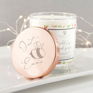Bee You Candle With Personalised Lid