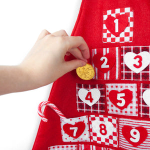 Personalised Festive Red Advent Calendar