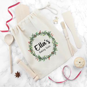Personalised Kids Christmas Wreath Baking Set
