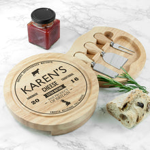Load image into Gallery viewer, Personalised Traditional Cheese Brand Wooden Board Set