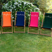 Load image into Gallery viewer, Personalised Adult Script Deckchair