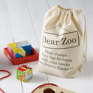 Dear Zoo Puzzle Block In Personalised Storage Bag