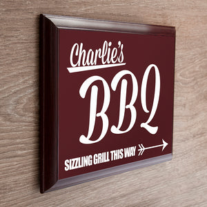 Personalised BBQ This Way Sign