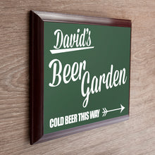 Load image into Gallery viewer, Personalised Beer This Way Garden Sign