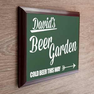 Personalised Beer This Way Garden Sign
