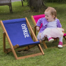 Load image into Gallery viewer, Personalised Child's Deckchair