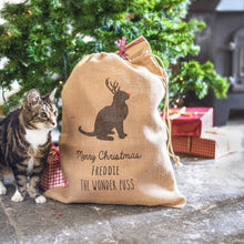 Load image into Gallery viewer, Personalised Cat Christmas Sack