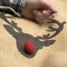 Load image into Gallery viewer, Personalised Rudolph Reindeer Christmas Sack