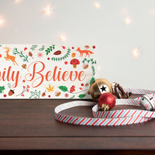Load image into Gallery viewer, Personalised Woodland Festive Wooden Christmas Mantle Decoration