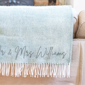 Personalised Couple's Wool Throw