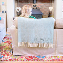 Load image into Gallery viewer, Personalised Couple's Wool Throw