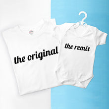 Load image into Gallery viewer, Personalised Daddy & Me Remix T-Shirt & Baby Vest Set