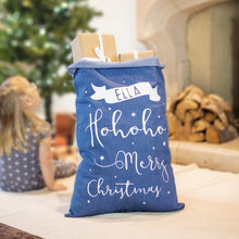 Load image into Gallery viewer, Personalised Denim Christmas Sack