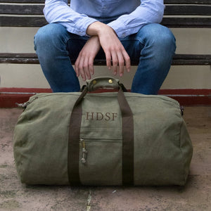 Personalised Large Canvas Holdall
